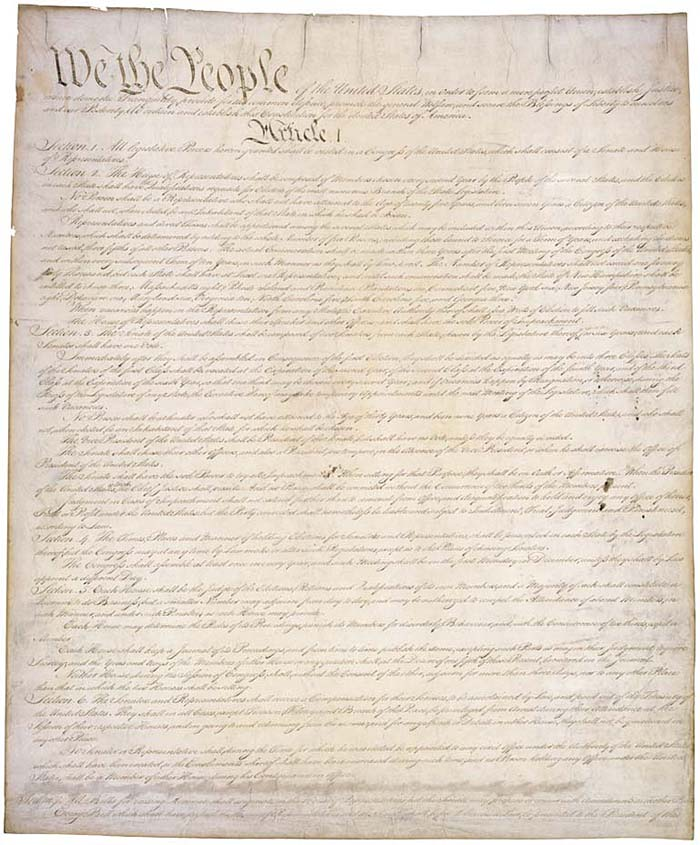 image of 'We the People ...' United States Constitution parchment