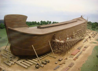image of reconstruction of Noah's ark