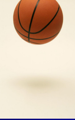 photo of basketball in mid-air