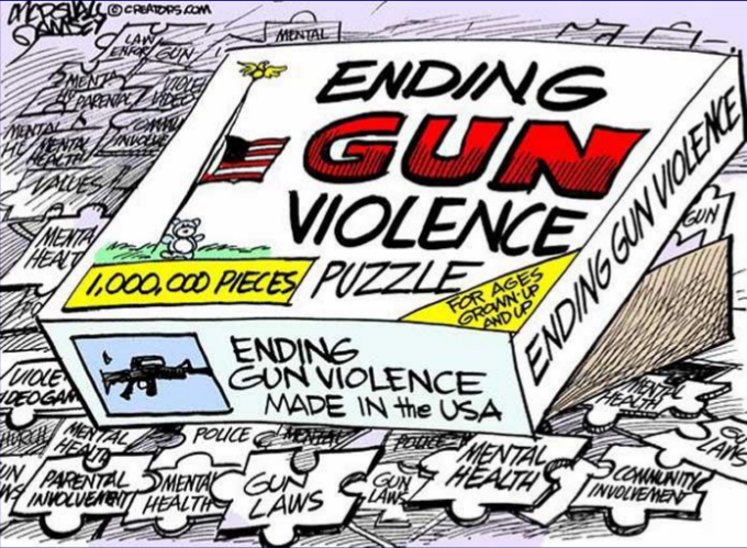 ending gun violence puzzle - 1,000,000 pieces