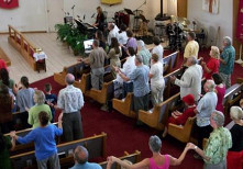photo of participants in worship service