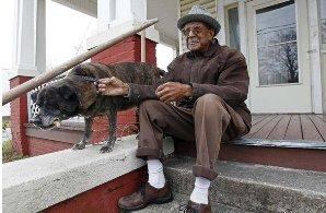 Dad sitting on porch