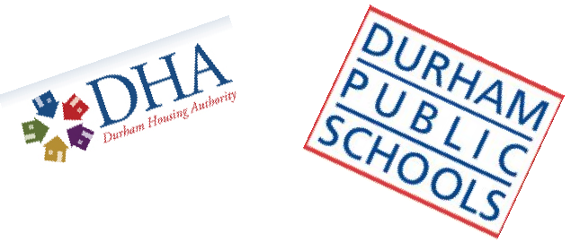 logos of Durham Housing Authority and Durham Public Schools