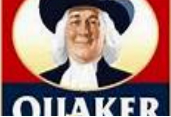 image of portion of Quaker brand oatmeal container
