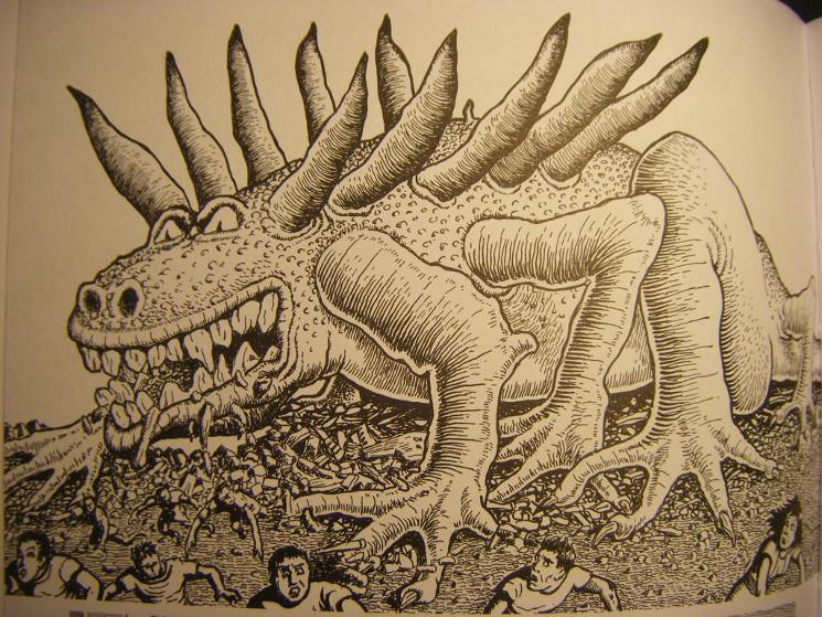 cartoon of the Beast