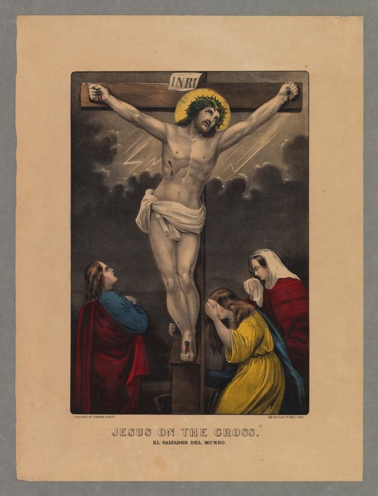 painting of Jesus on the Cross