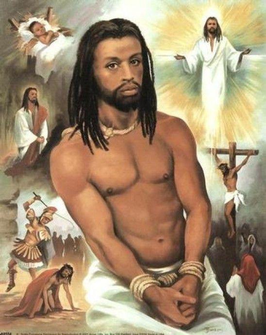 painting of Jesus with dreadlocks