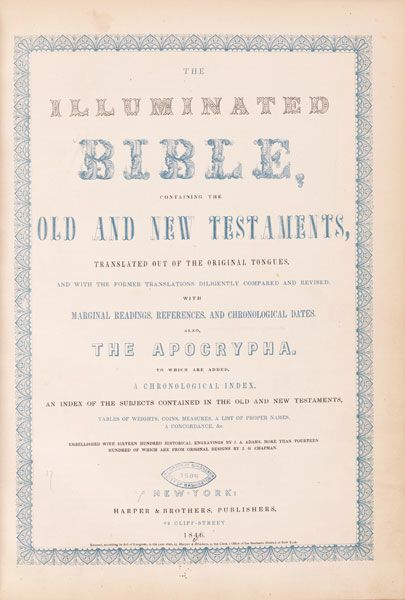 photo of title page of Bible