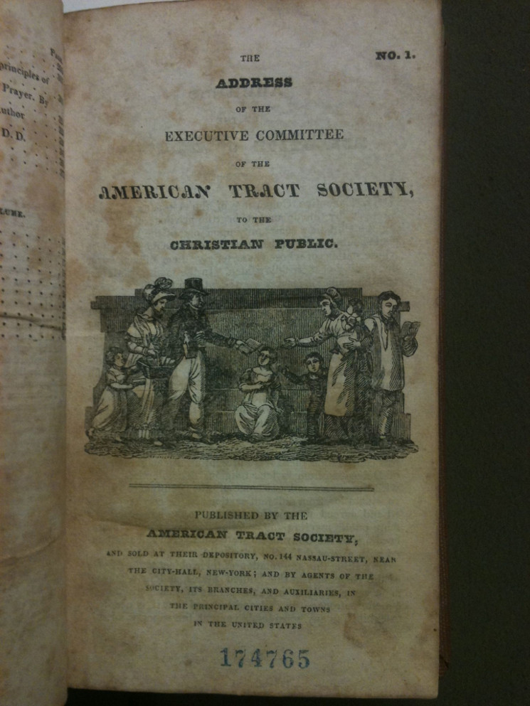 photo of title page of a tract