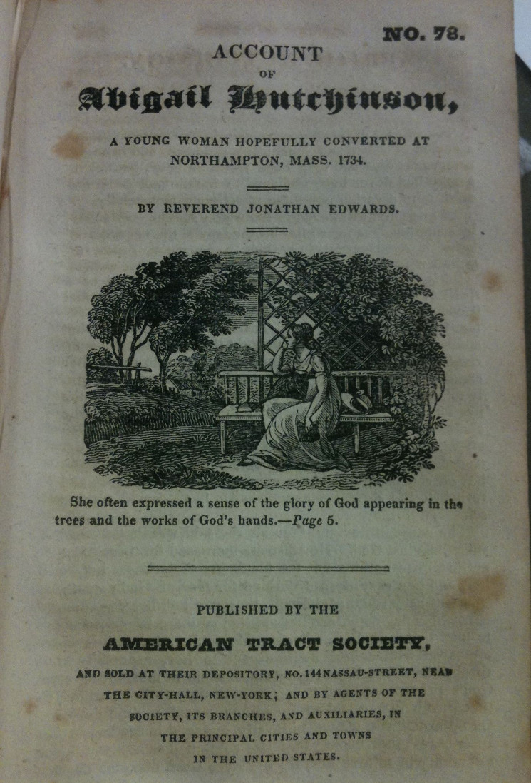 photo of image in tract Account of Abigail Hutchinson