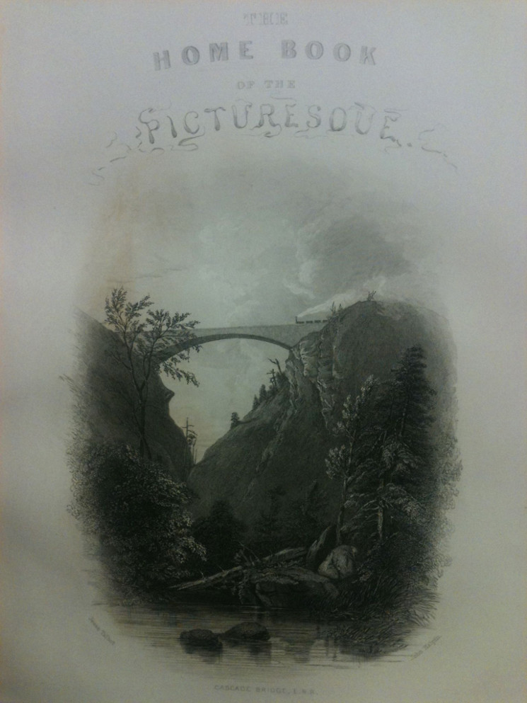 photo of title page of The Home Book of the Picturesque