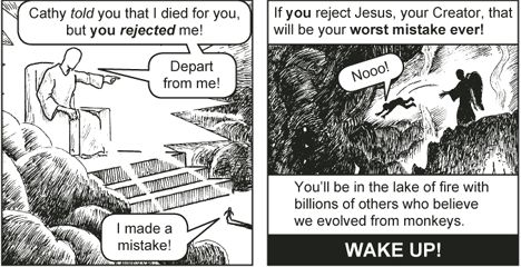 cartoon of Judgment scene