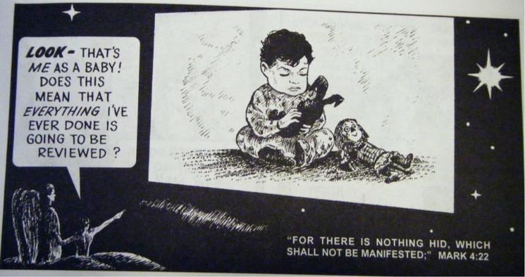 cartoon of Mark 4:22
