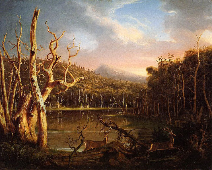 painting of landscape in the Catskills