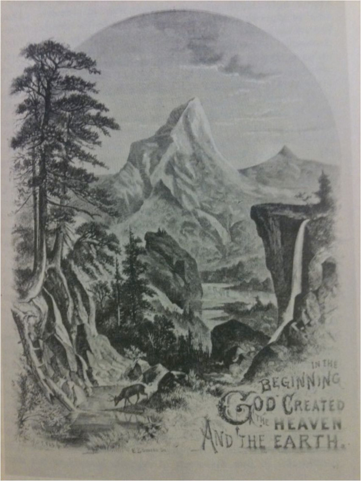 painting of mountain