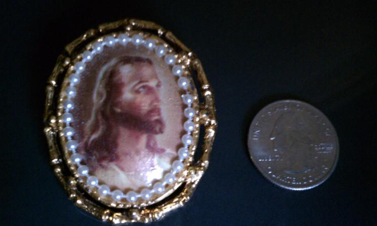 head of Christ on jewelry