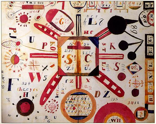 many symbols, non-representational art