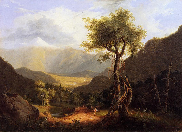 painting of View in the White Mountains