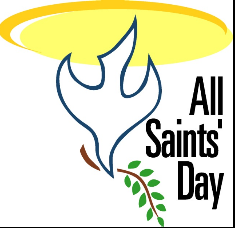All Saints Day dove