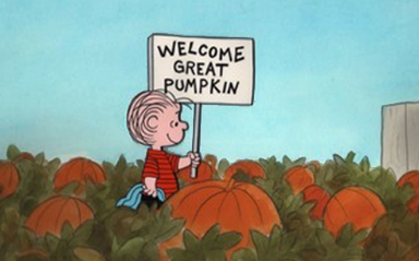 Peanuts in the pumpkin patch