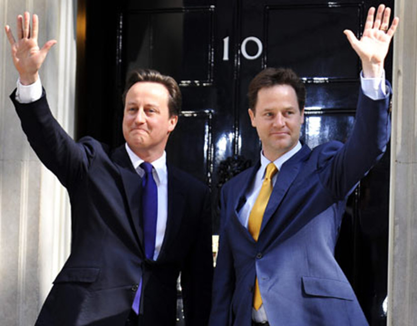 photo of David Cameron with Nick Clegg
