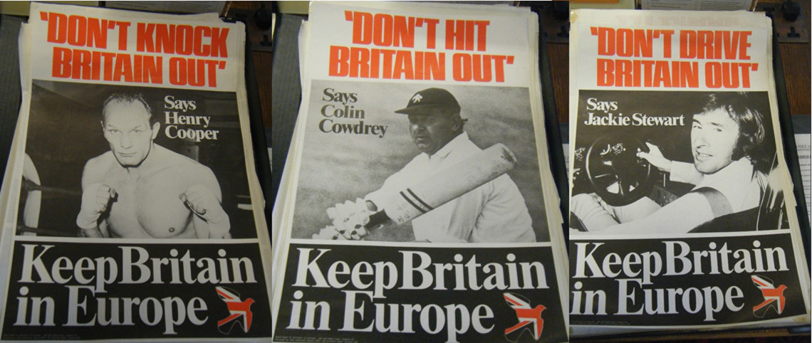 Keep Britain in Europe poster endorsements from sports stars