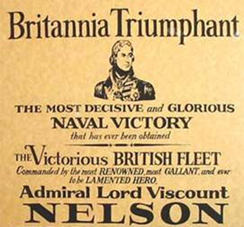 poster praising Lord Nelson