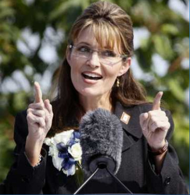 image of Sarah Palin who falsely characterized proposed Medicare policies