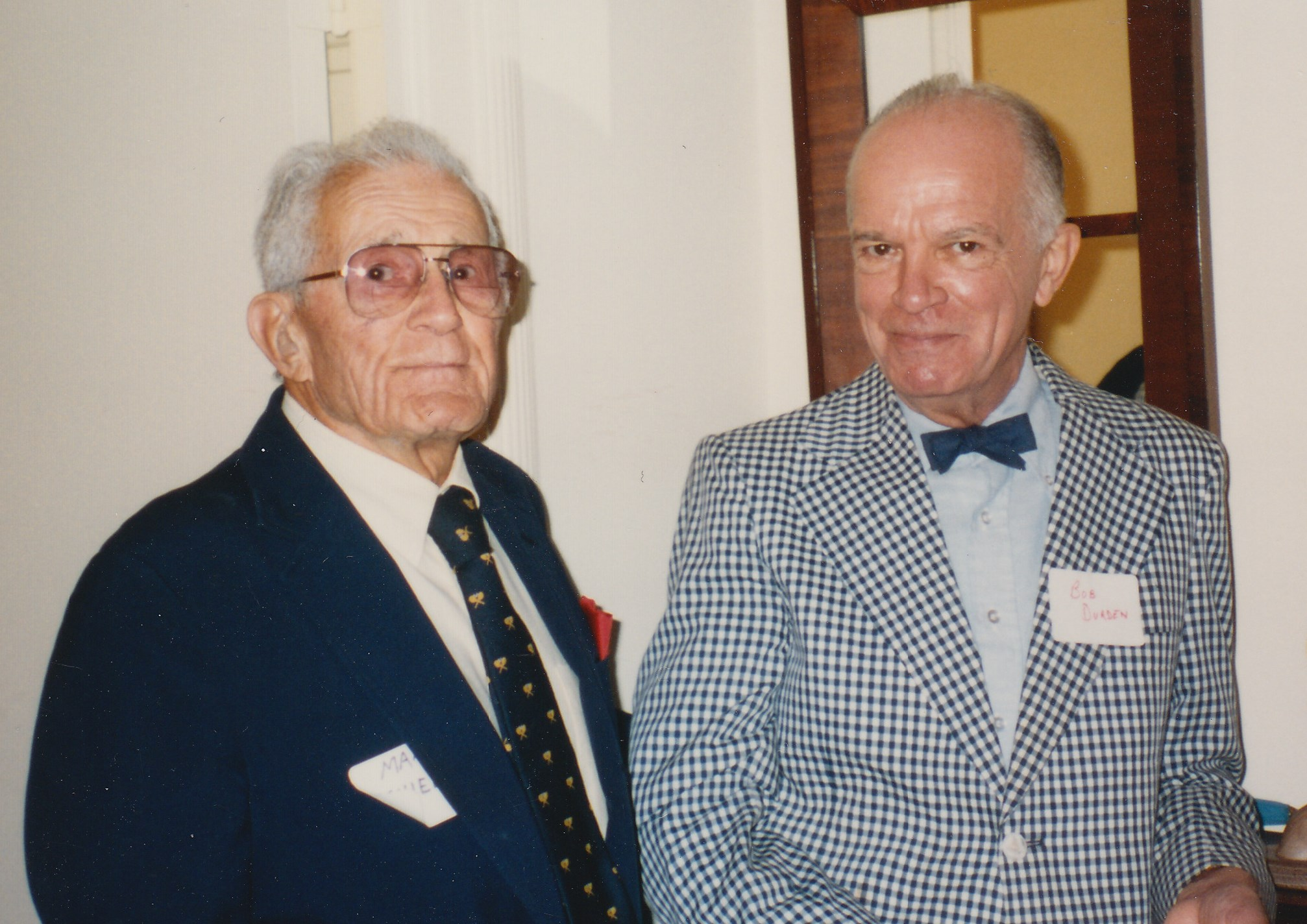 photo of Max Schiebel and Bob Durden