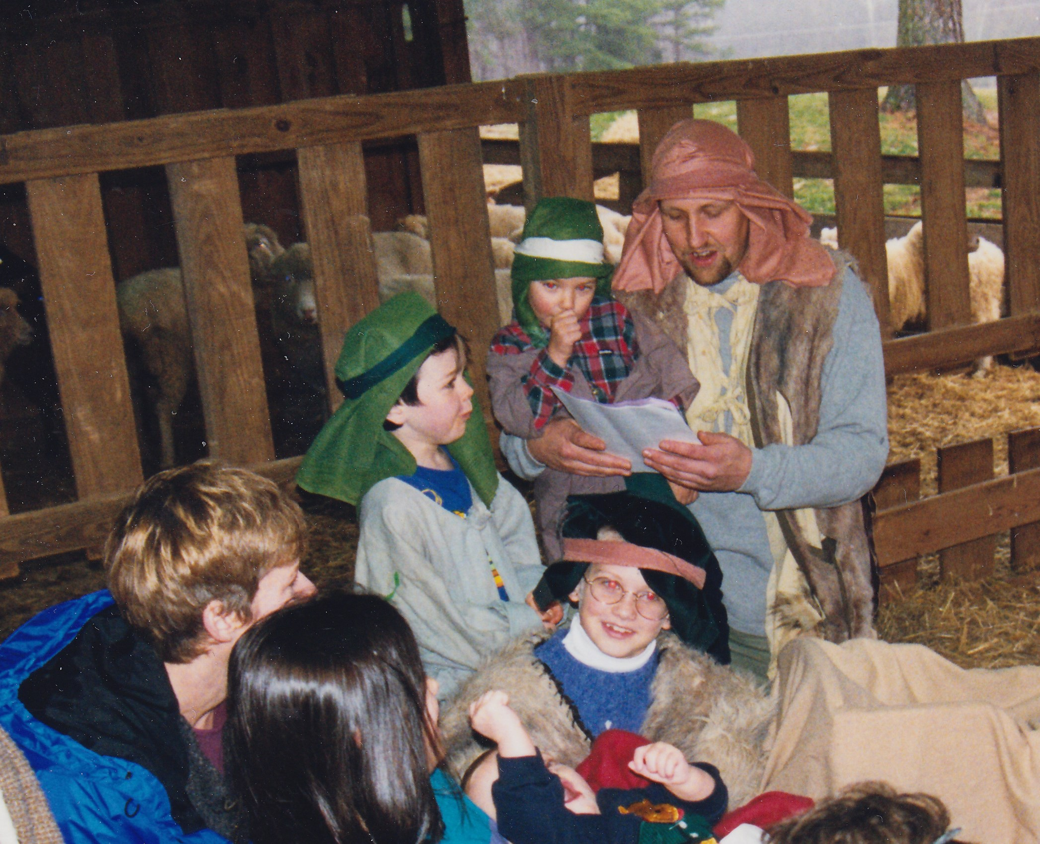 photo of a children's living nativity scene