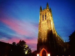 tower of the Chapel against an evening sky