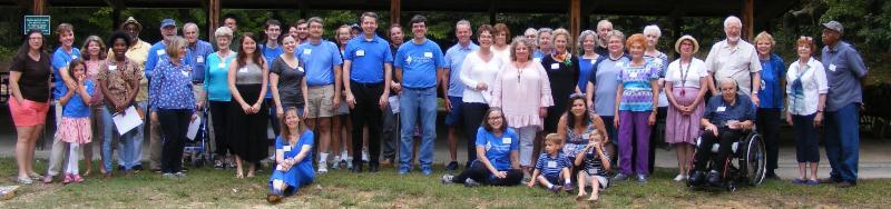 photo of group at fall picnic