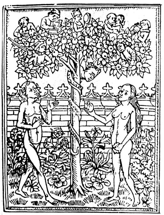 image of Adam and Eve with the tree of life