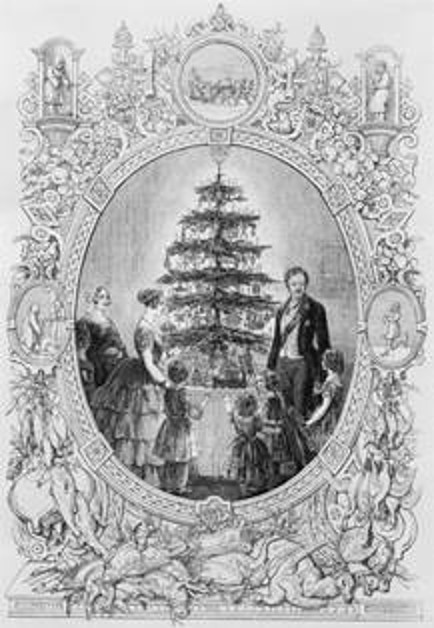 image of royal family around a decorated tree