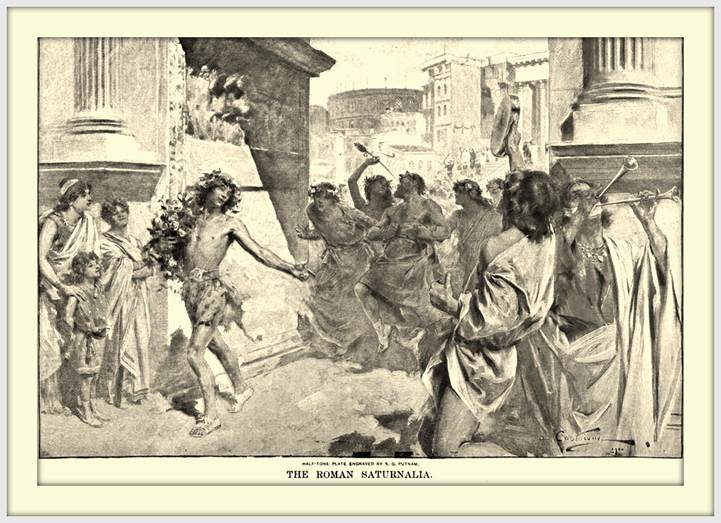 depiction of dancing during festival