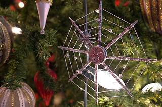 image of a tree ornament in the shape of a spider web