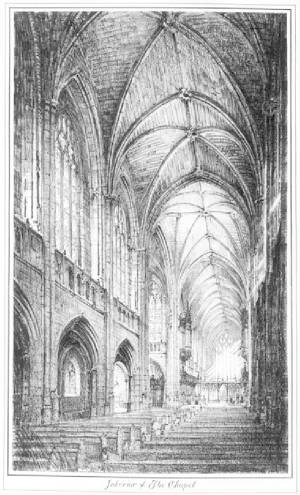 sketch of interior of Chapel