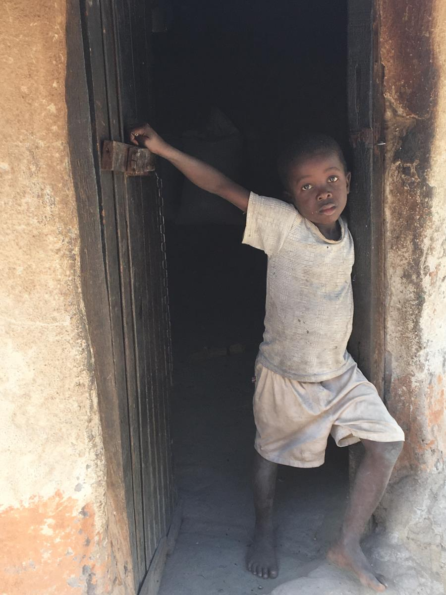 photo of child in entry