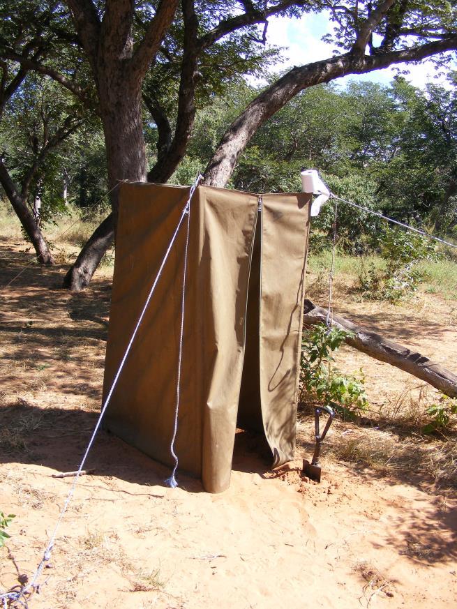 photo of toilet tent