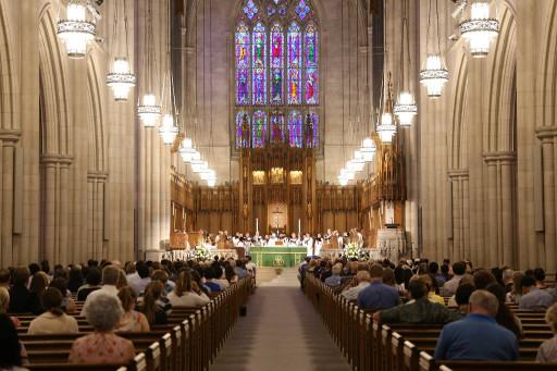 a worship service in the Chapel