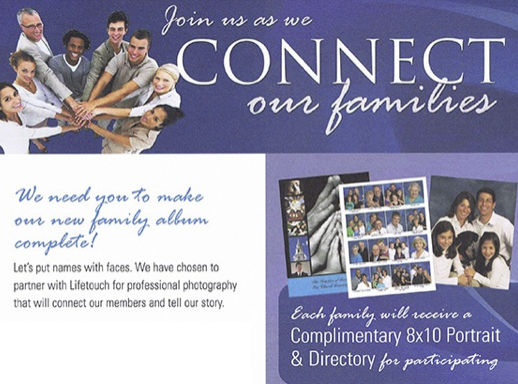 We need you to make our new family album complete!  Let's put names with faces.  We have chosen to partner with Lifetouch for professional photography that will connect our members and tell our story.