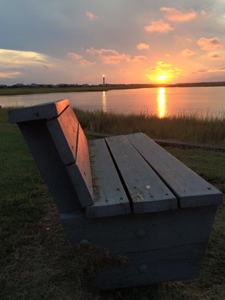 aerial photo of a bench with a view