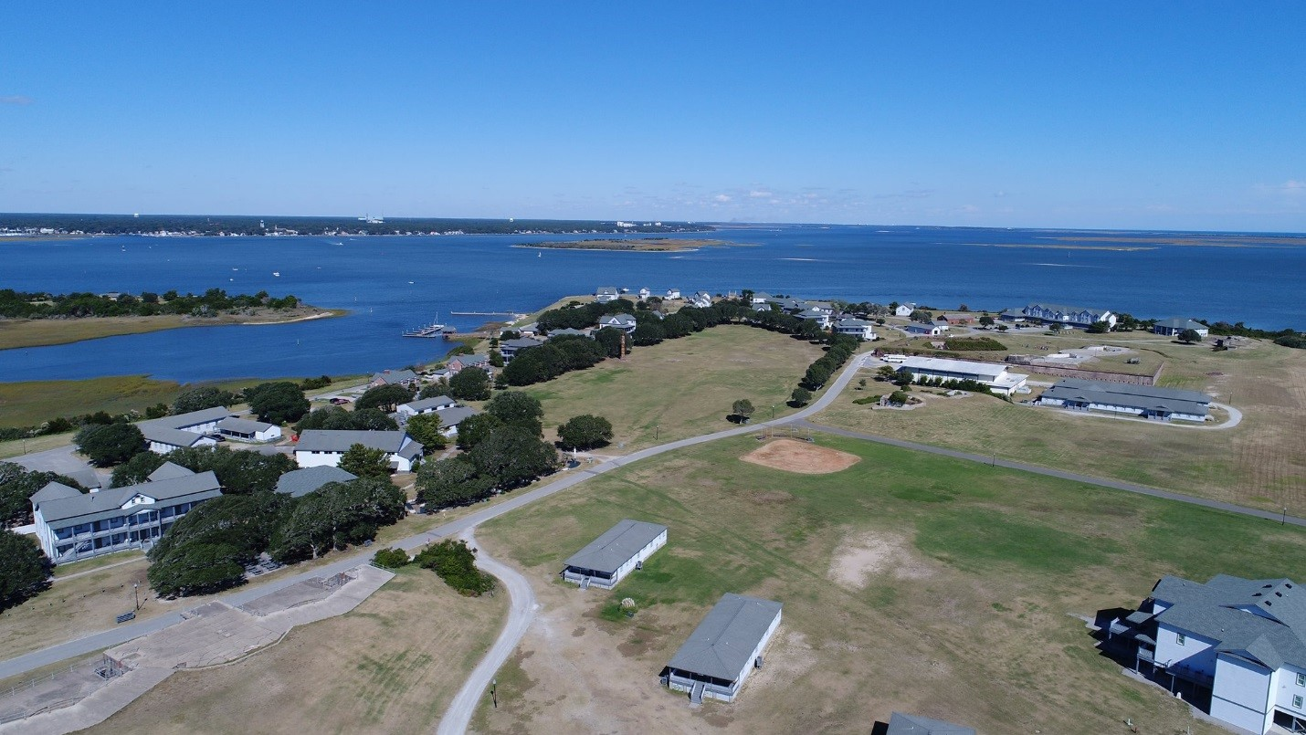 aerial photo of Fort Caswell