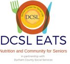 logo for Durham Center for Senior Life EATS in partnership with Durham County Social Services
