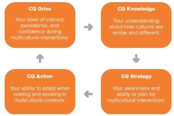 graphic depicting drive to knowledge to strategy to action to drive ...