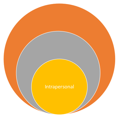 graphic containing the word 'intrapersonal'