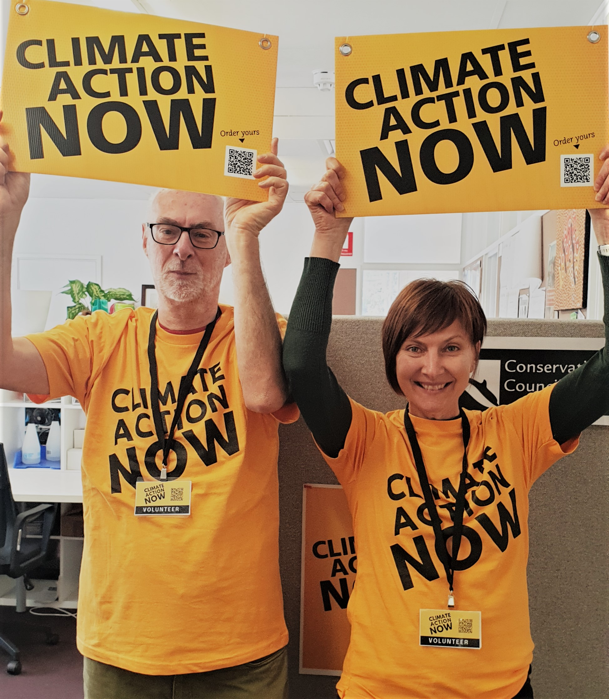 Climate Action Now volunteers
