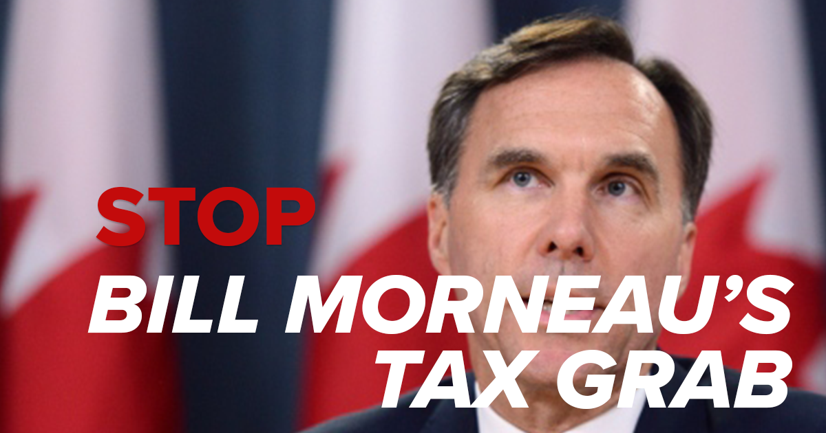 Stop Bill Morneau's tax-and-spend lunacy