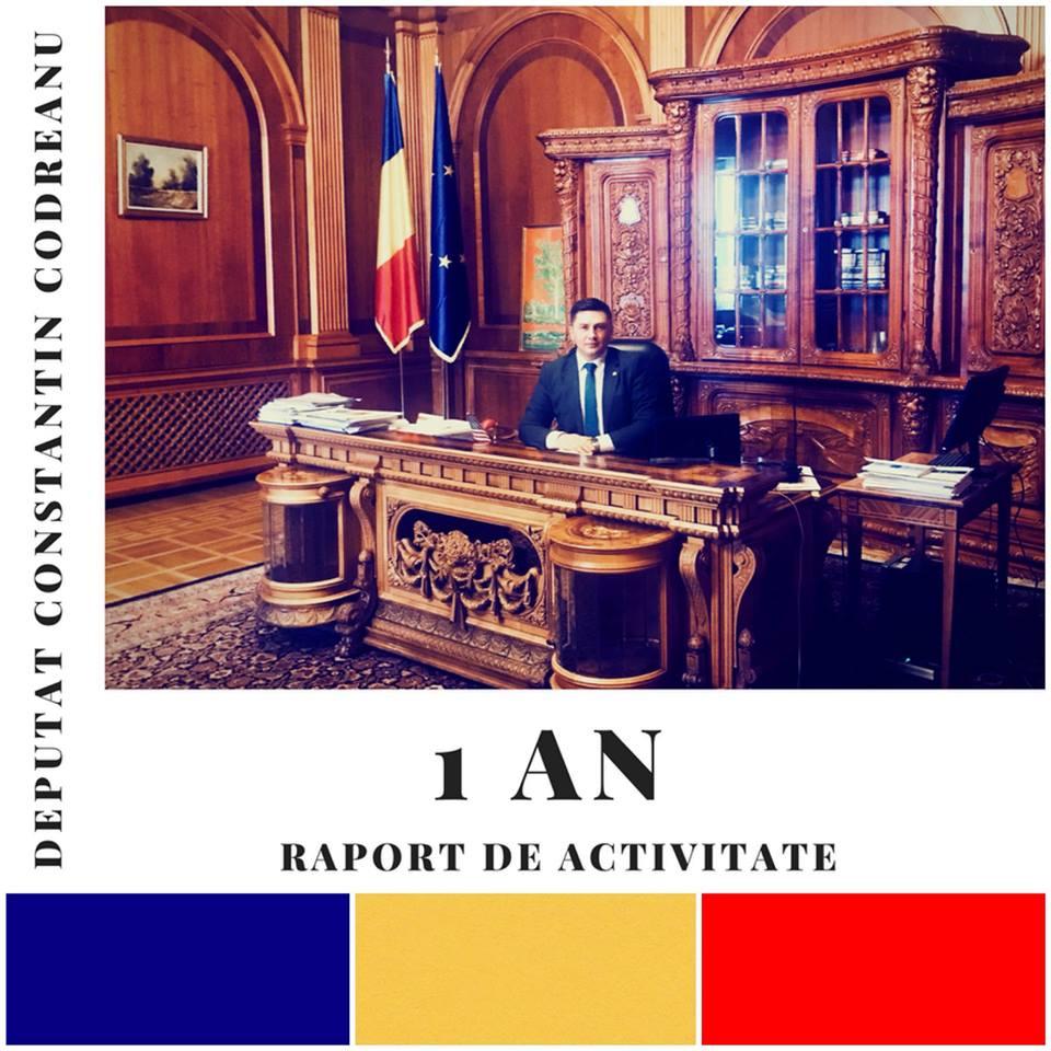 Deputat Constantin Codreanu Raport de activitate