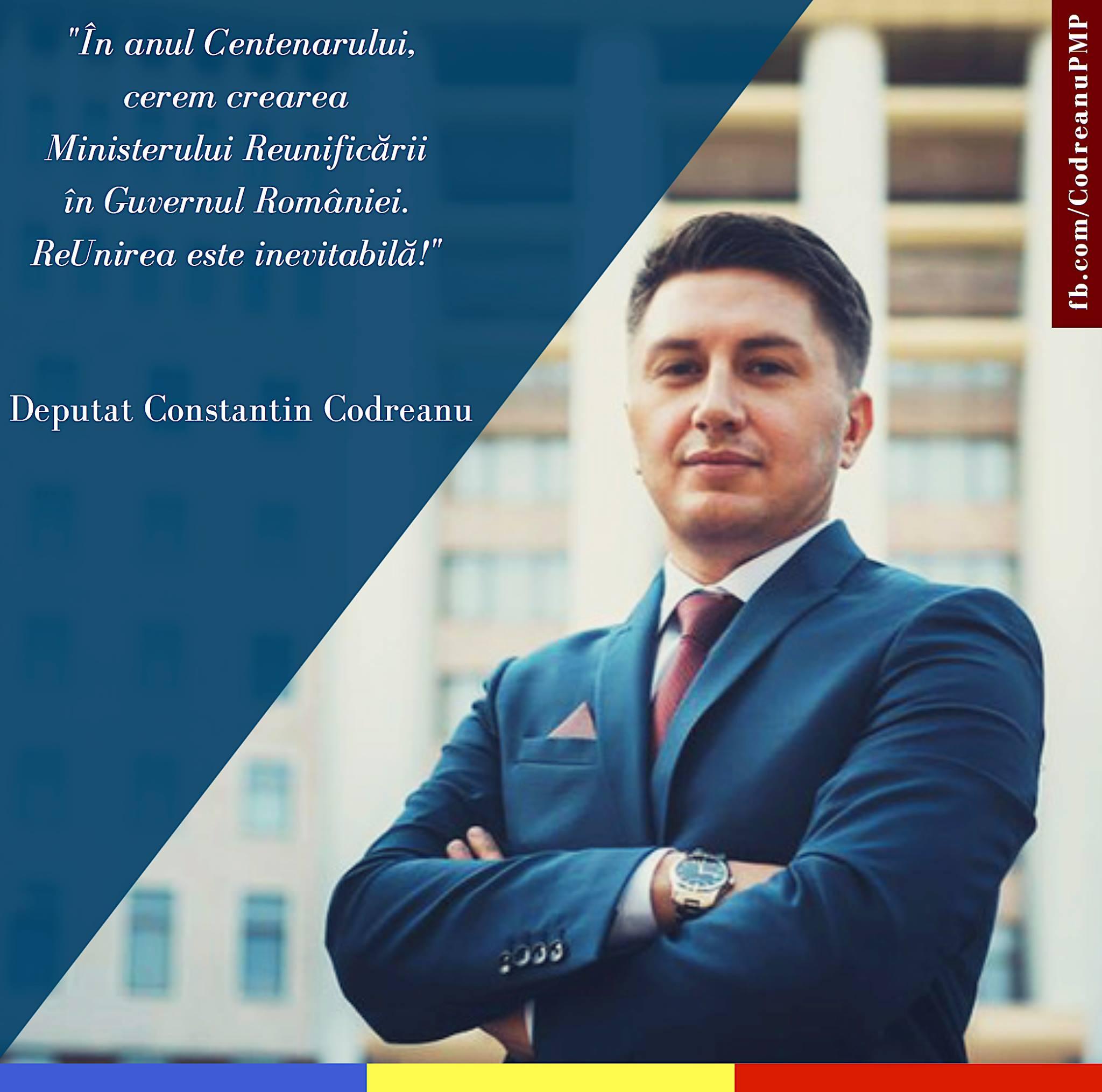 Constantin Codreanu Ministerul Reunificării